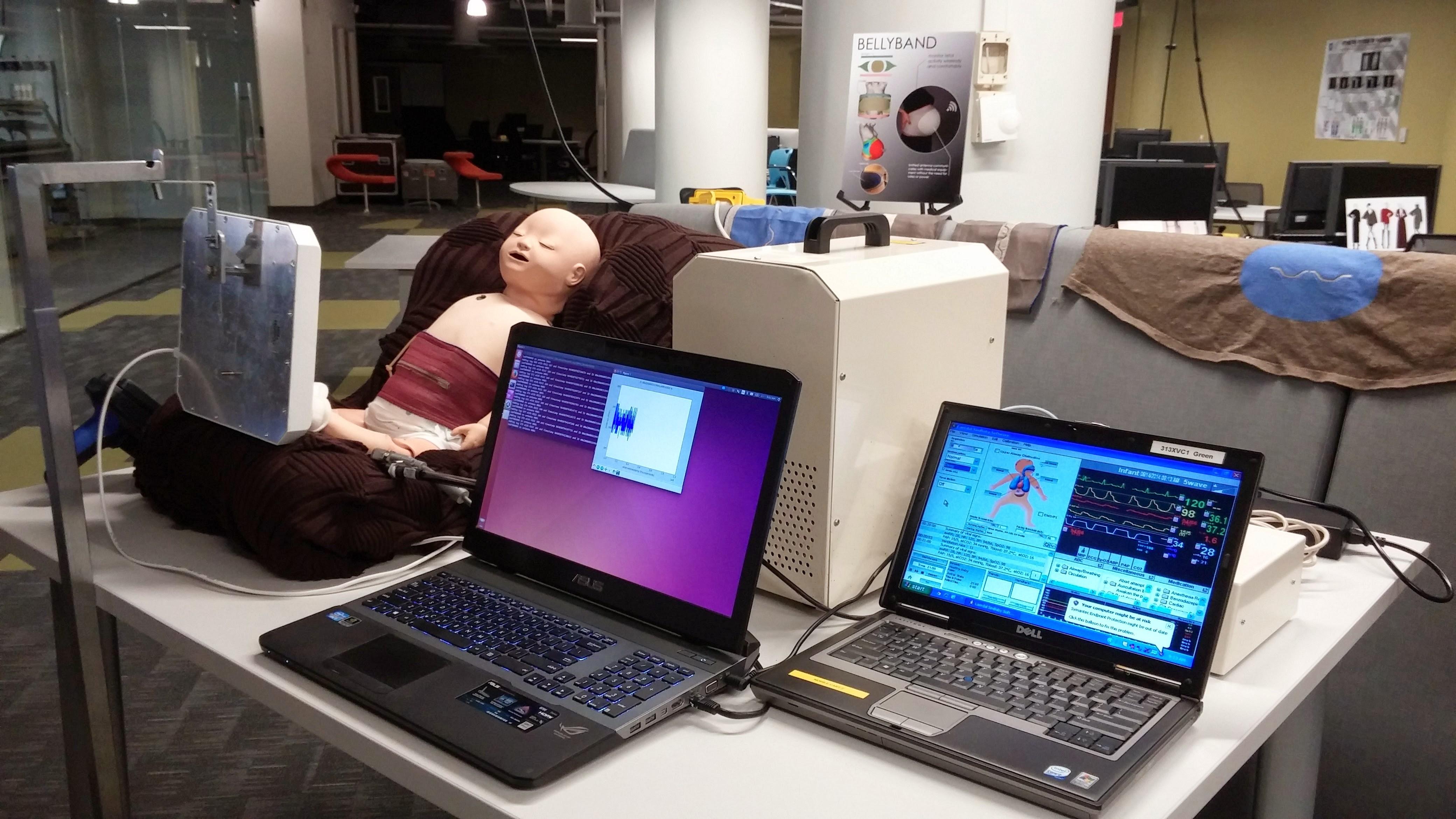 SimBaby Wireless Respiratory Analysis with the Smart Fabric Bellyband